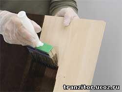 Способы и рецепты окраски древесины