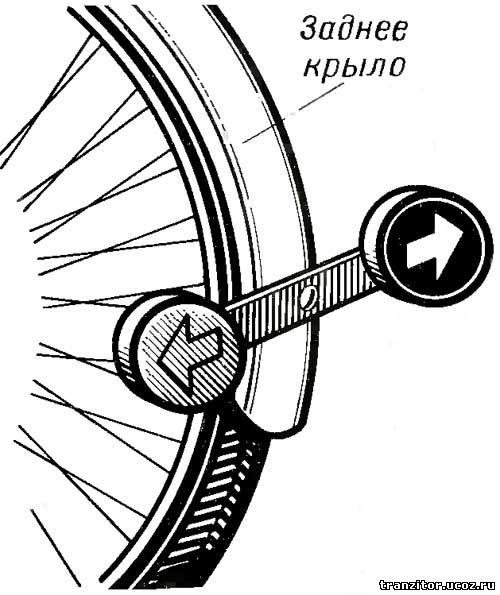 Электронный указатель поворотов для велосипеда