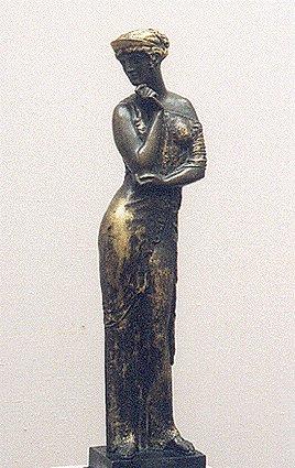 гипсовые статуи вид античной бронзы